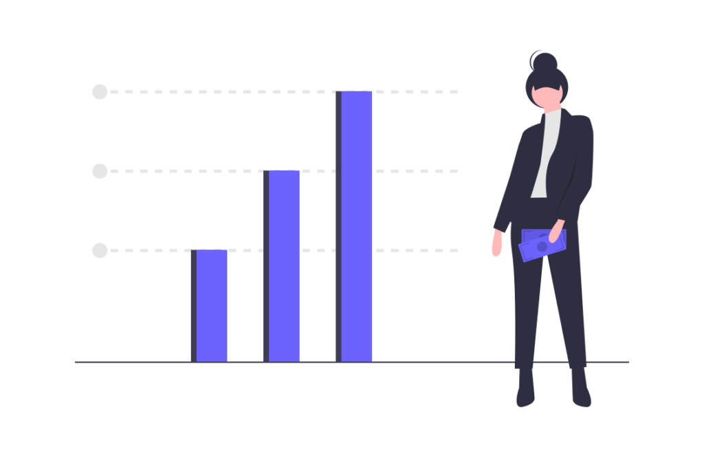 会社のデータ グラフ