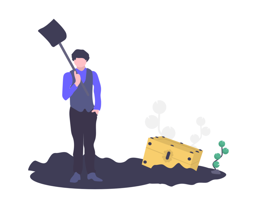 お金を掘る人