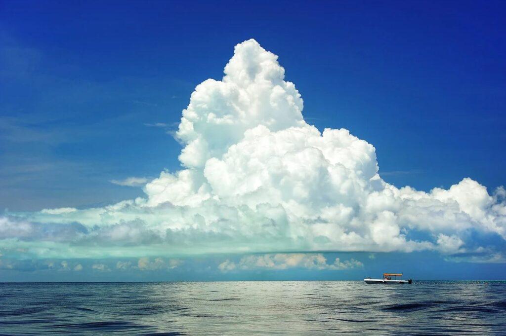 広い海と積乱雲