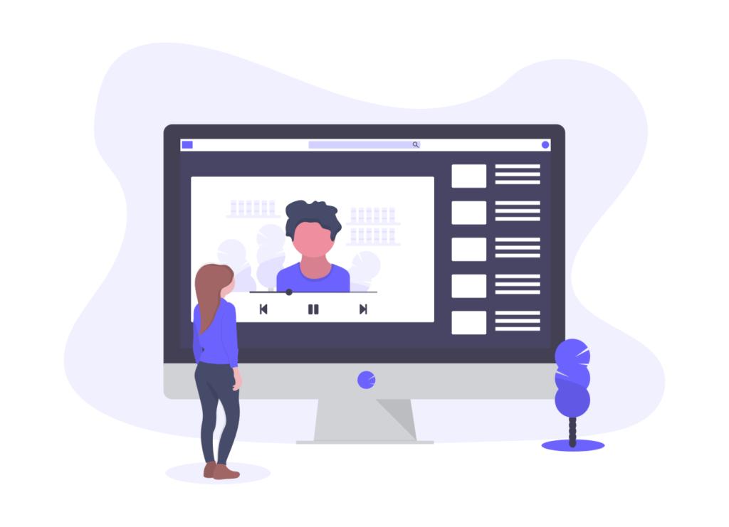 動画で学習する人