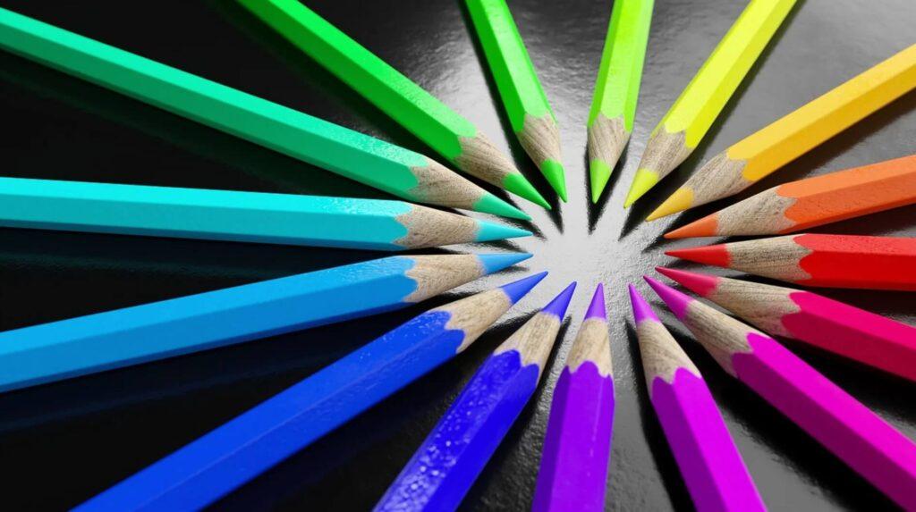 色が違う鉛筆