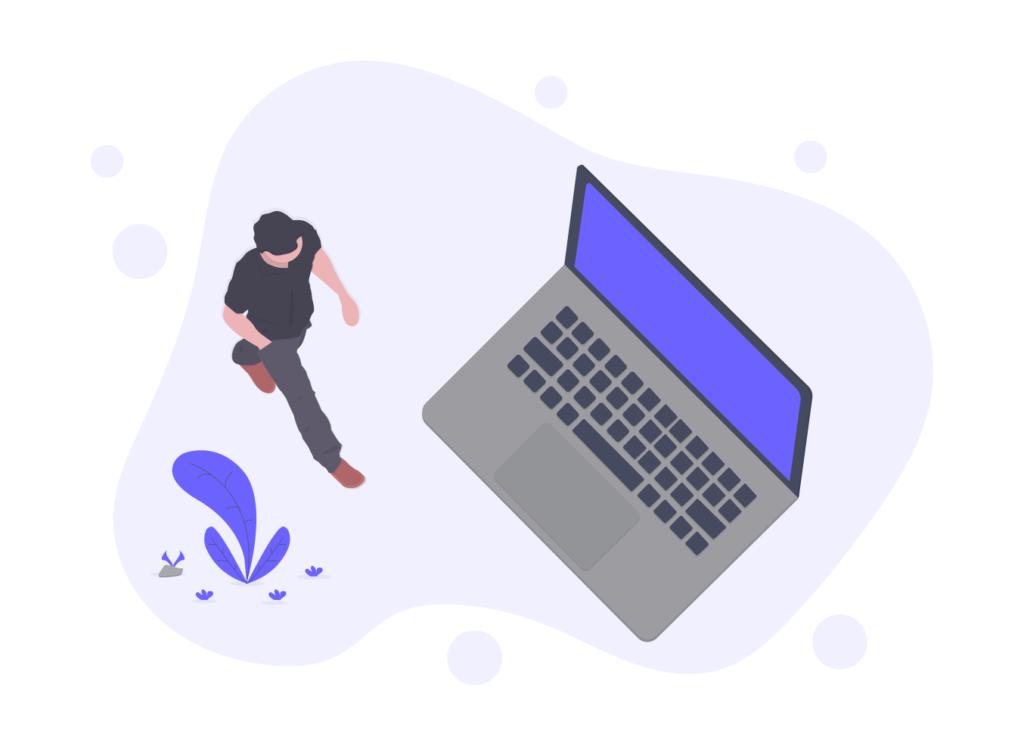 パソコンと人