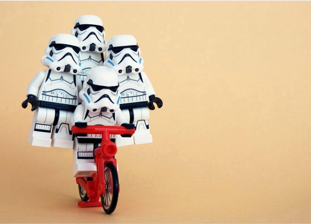 安定している自転車