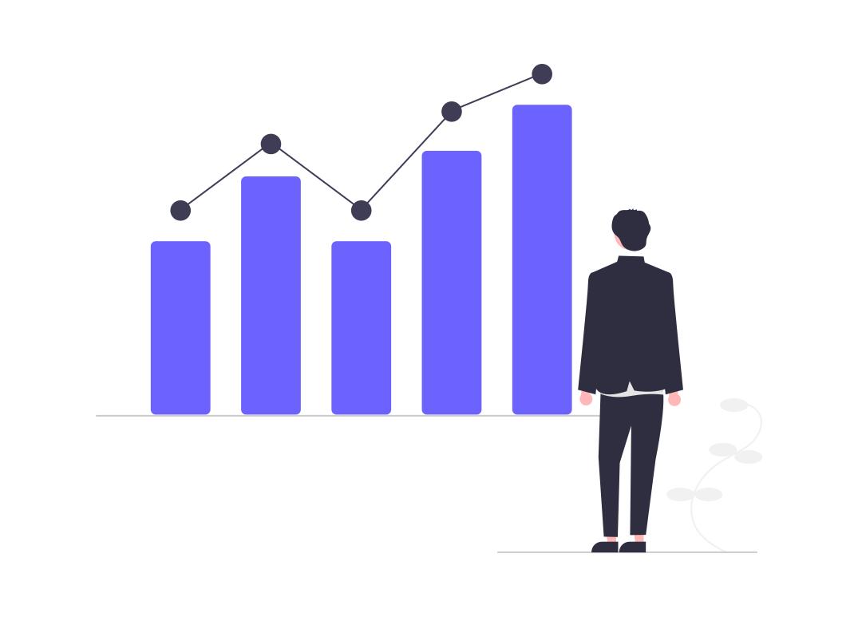 投資のグラフ