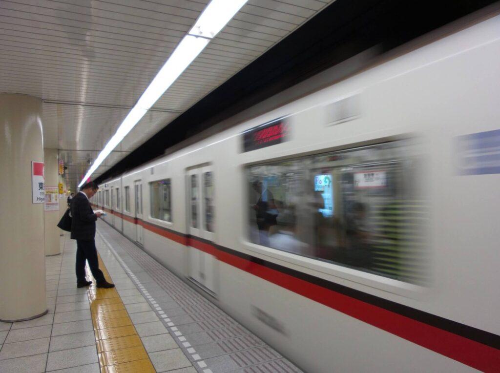 満員電車のラッシュ