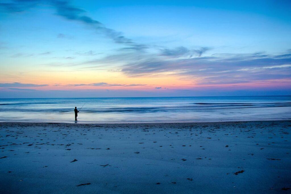 海辺の夕陽