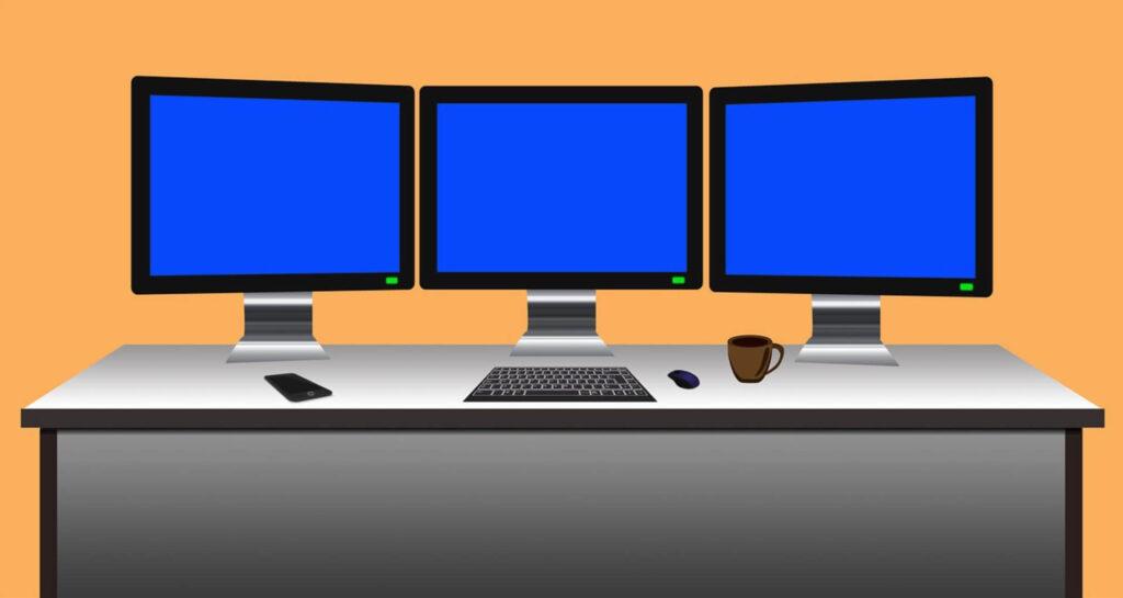 3つのパソコン