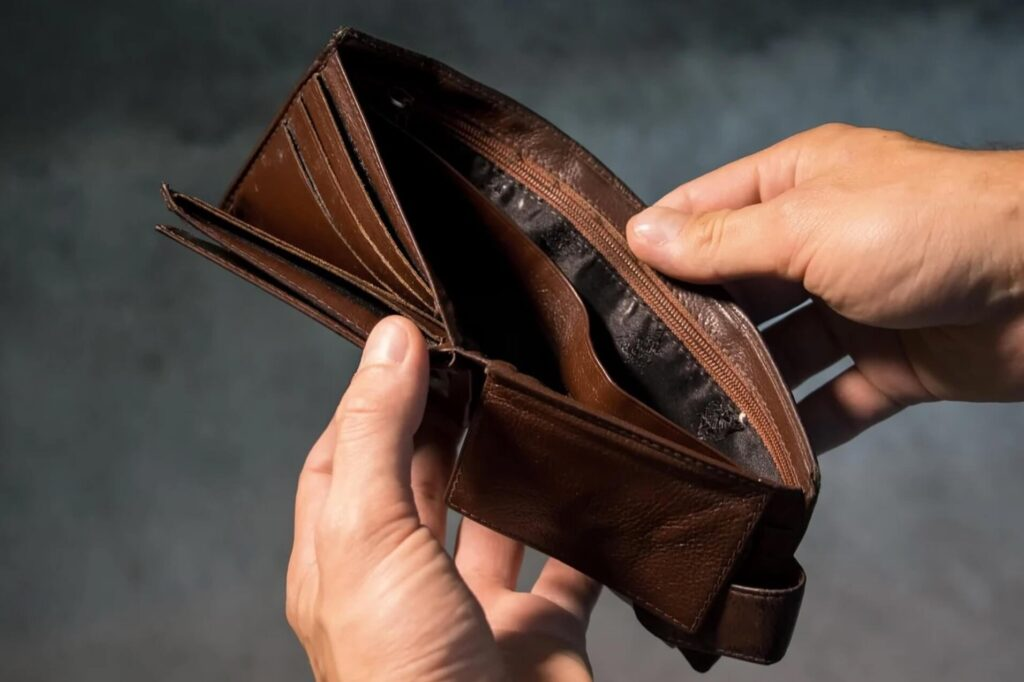 空っぽの財布